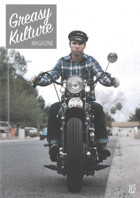 Greasy Kulture Magazine 68 HD Triumph Chopper FLH Harley Sportster Flathead GKM